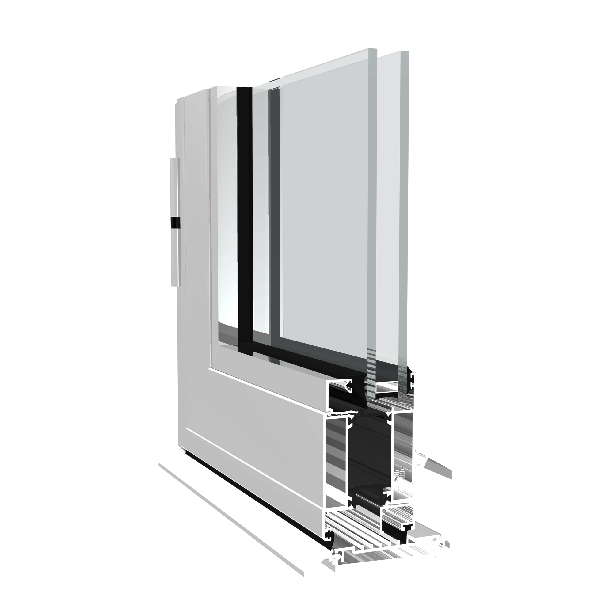 "Dualframe 75 aluminium ""High Performance"" door from Sapa"