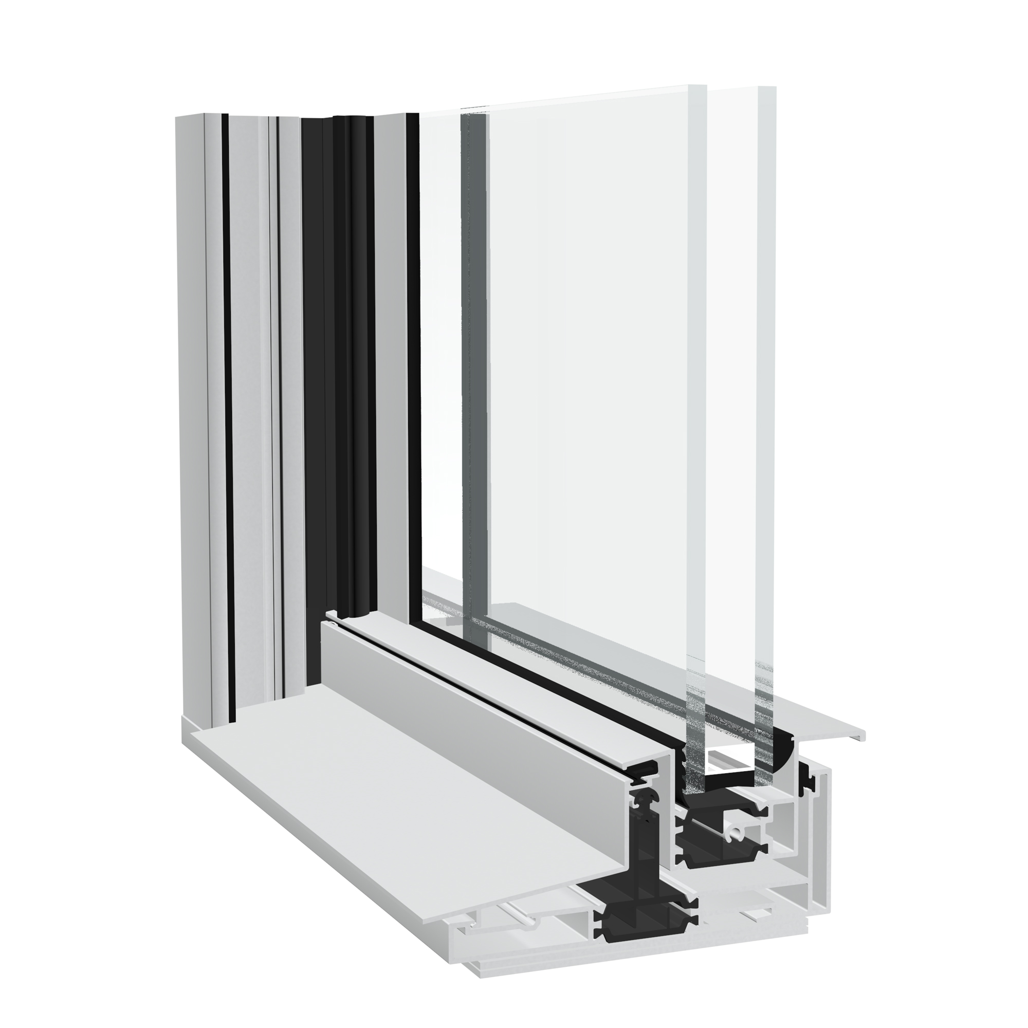 Dualslide aluminium vertical sliding window from Sapa